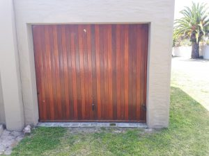Meranti wooden garage door